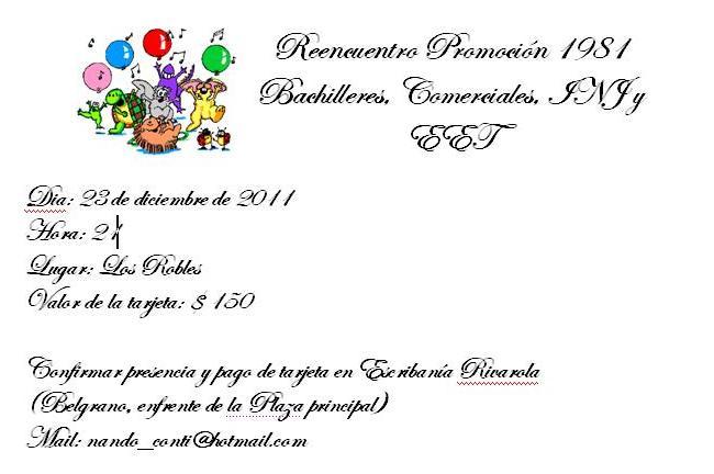Tarjetas De Invitación Para Promocion Secundaria Imagui