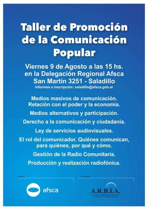 130808 COMUNICACION POPULAR EN SALADILLO
