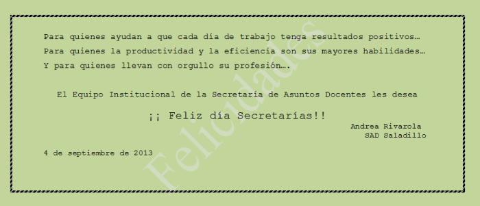 130904 Dia Secretaria SAD