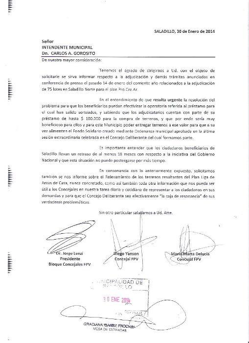 140130 CONCEJALES FPV - Nota a Gorosito 001