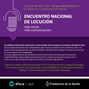 ENCUENTRO LOCUTORES - Flyer