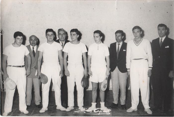 Izq a der: Armando Pascual  y Manuel Elizagaray: Detrás: Santiago Hoyos y Serafín Rodríguez.