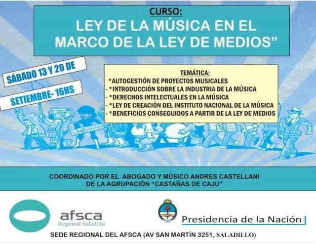 La Ley de la Música en el marco de la Ley de Medios | Info Saladillo