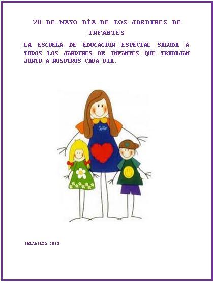 D a de los jardines de infantes info saladillo for Asistenciero para jardin de infantes