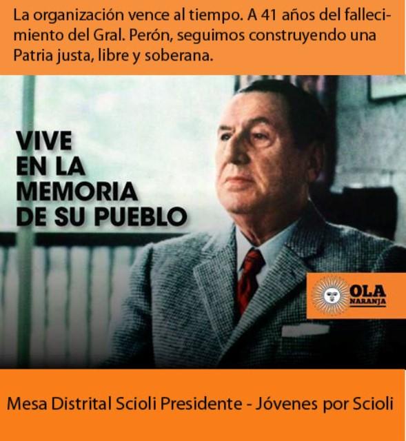 Aniversario fallecimiento Peron