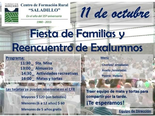 Invitación Fiesta De Familias Y Reencuentro De Ex Alumnos