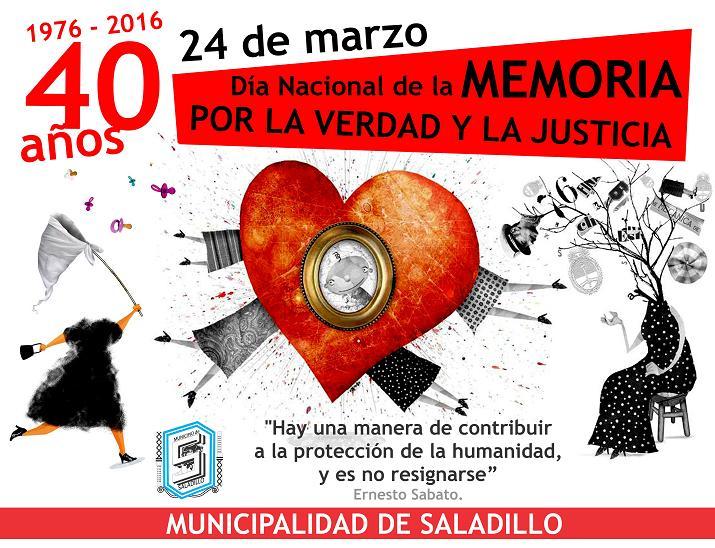 saludo 40 aniversario 24 de marzo MUNICIPALIDAD DE SALADILLO